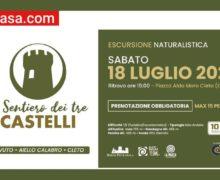 La Il sentiero dei tre castelli. Sabuci, Ayel e Pietramala 18 luglio 2020