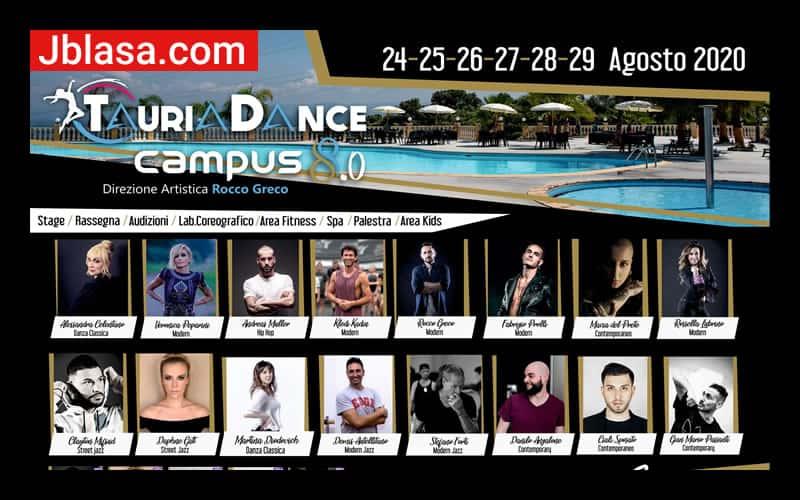 TauriaDance Campus 8.0 Agosto 2020 a Plami