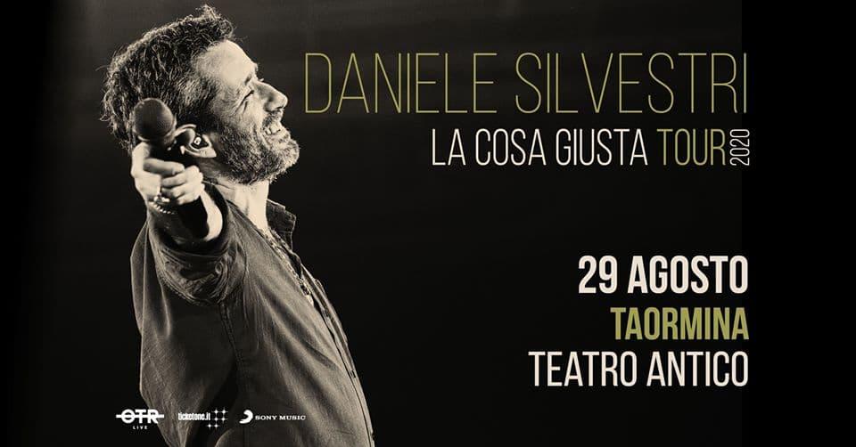 Daniele Silvestri Live Show 29 Agosto 2020 a Taormina