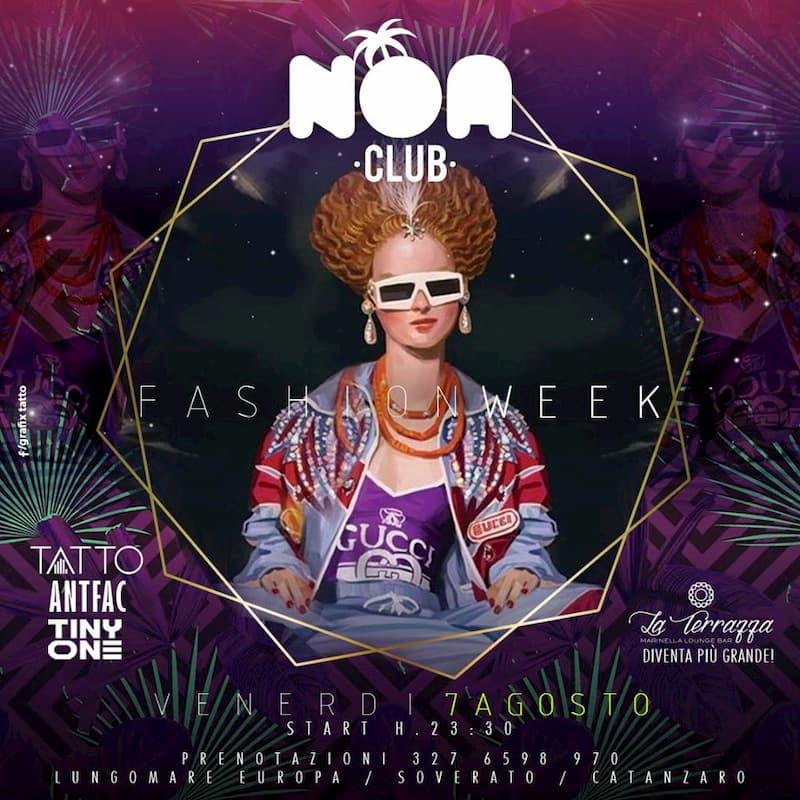 Fashion WEEK al Noa Club di Soverato 7 agosto 2020