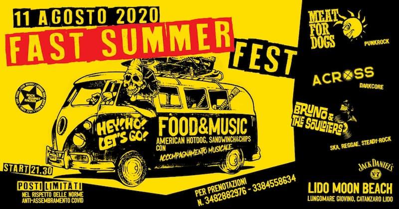 Fast Summer Fest Lido Moon Beach Lungomare Giovino 11 agosto 2020 Catanzaro