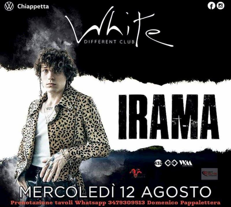 Irama al White Different Club 12 agosto 2020 a Corigliano Calabro