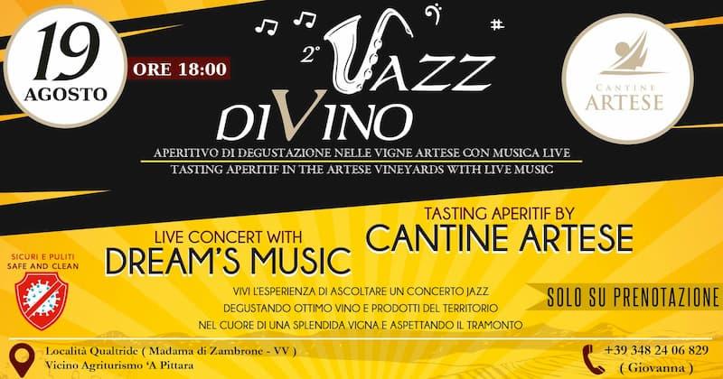 Jazz DiVino 19 agosto 2020 a Zambrone
