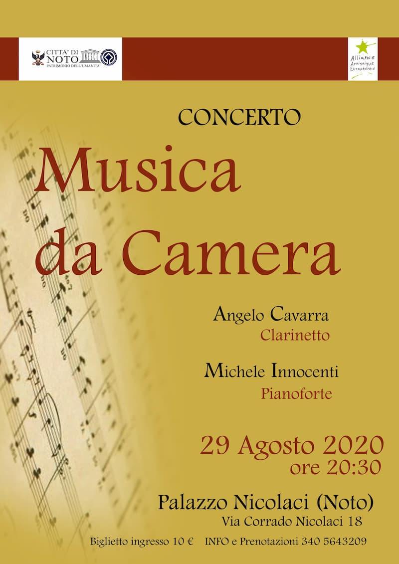 Musica da camera- Angelo Cavarra Michele Innocenti 29 agosto 2020 a Noto locandina