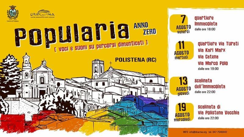 Popularia - anno zero voci e suoni su percorsi dimenticati dal 7 al 19 agosto a Polistena