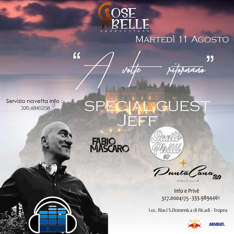 Punta Cana - Special Guest Jeff 11 agosto 2020 Tropea