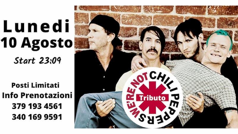 Tributo Red Hot Chile Peppers 10 agosto 2020 a Roggiano Gravina