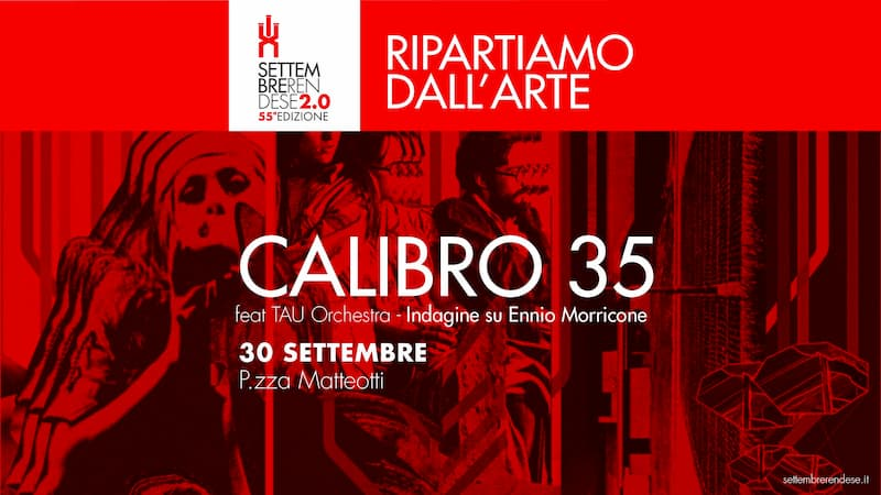 Concerto Calibro 35 30 settembre 2020 a Rende