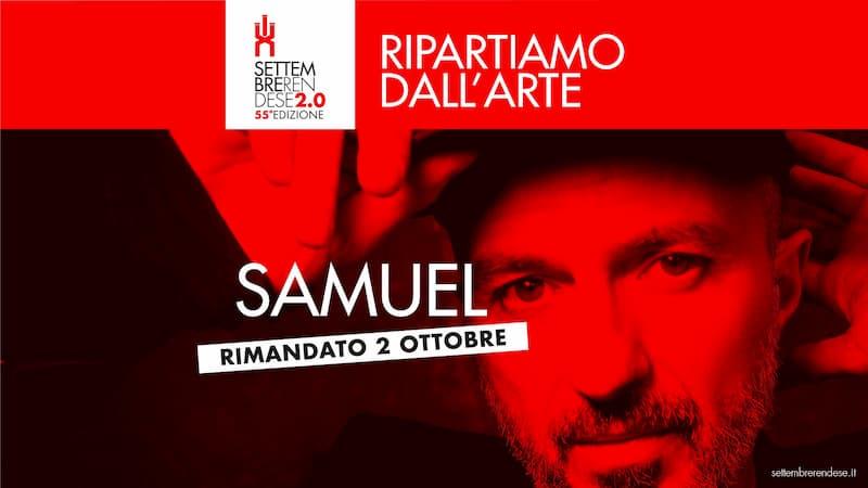 Concerto Samuel a Rende 2 ottobre 2020 Settembre Rendese