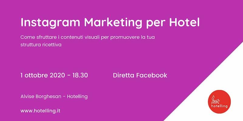 Instagram Marketing per Hotel - Free Webinar 1 Ottobre 2020