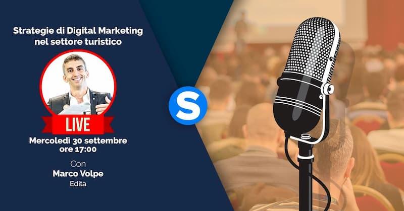 Strategie di Digital Marketing Turistico con Marco Volpe 30 settembre 2020 evento online