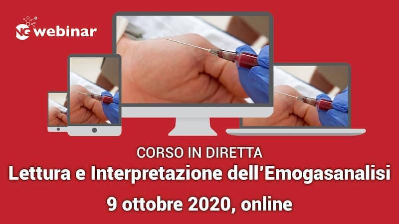 Webinar Lettura e Interpretazione dell'Emogasanalisi 9 ottobre 2020
