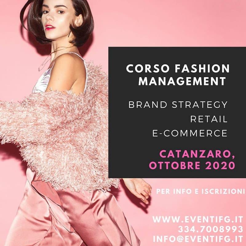 Corso Fashion Management ottobre 2020 a Catanzaro