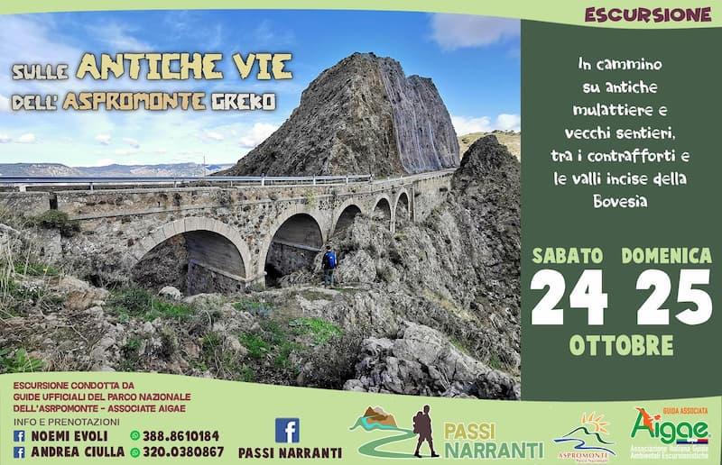 Escursione sulle antiche vie dell'Aspromonte Greco 24 e 25 ottobre 2020 Bova