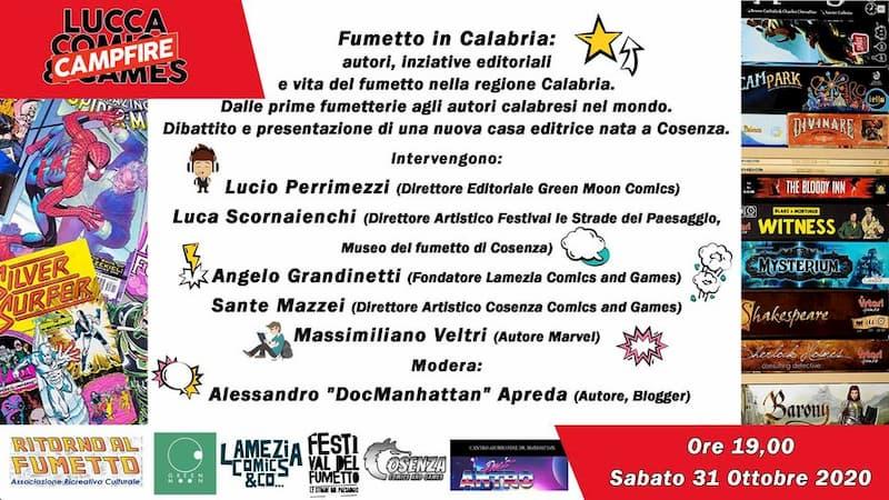 Fumetto in Calabria vita del fumetto nella regione Calabria 31 ottobre 2020 locandina