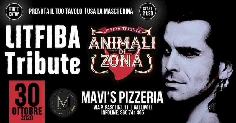 Litfiba Show @ MAVI'S di Gallipoli - Animali di Zona 30 ottobre 2020 a Gallipoli