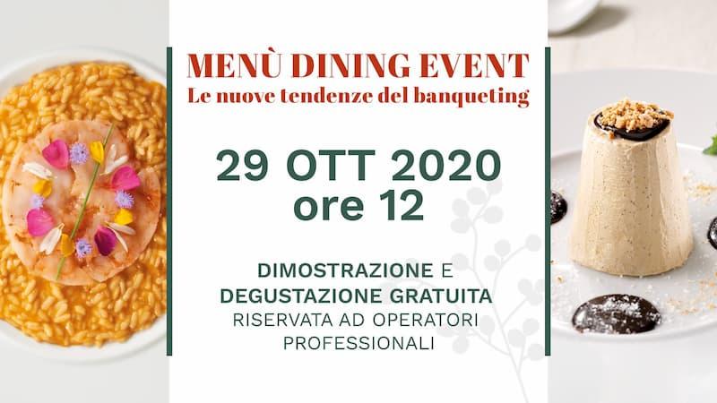 Menù Dining Event - Le nuove tendenze del banqueting - SOLO PER OPERATORI PROFESSIONALI 29 ottobre 2020 Amantea