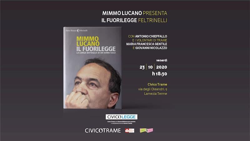 Mimmo Lucano presenta Il fuorilegge 23 ottobre 2020 a Lamezia Terme