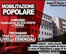 Mobilitazione popolare - chiediamo applicazione del DCA a Tropea 24 ottobre 2020