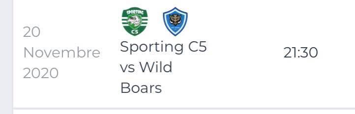 Sporting C5 - Wild Boars C5 20 novembre 2020 Cosenza