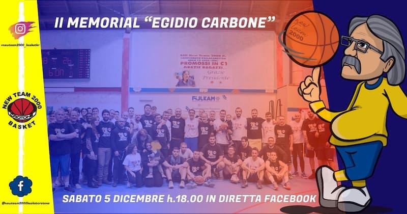 II Memorial Egidio Carbone 5 dicembre 2020 Crotone