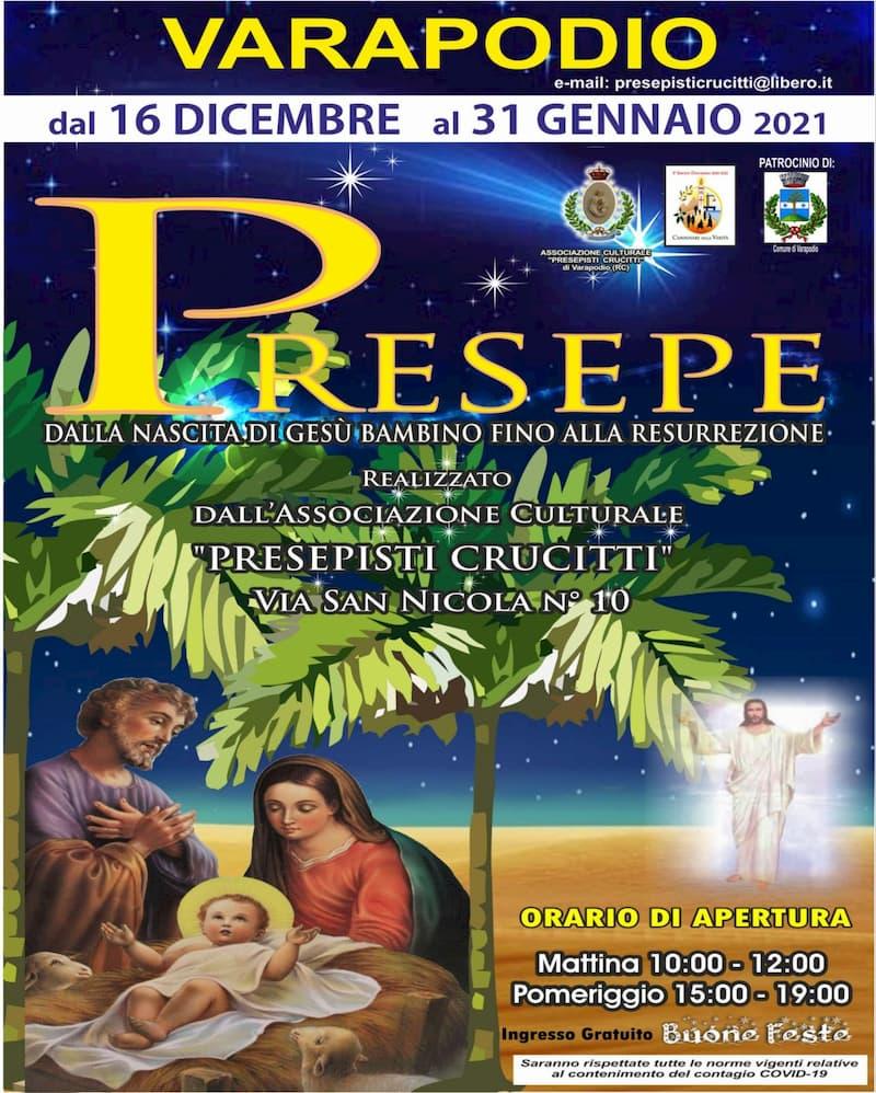 Presepe a Varapodi dal 16 Dicembre al 31 Gennaio 2021 locandina