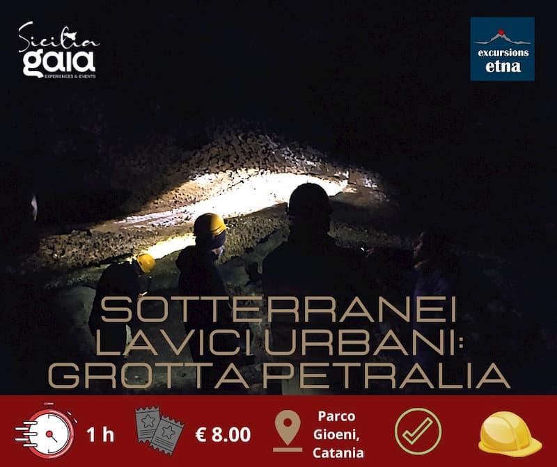 Grotta Petralia sotterranei lavici urbani nella città etnea