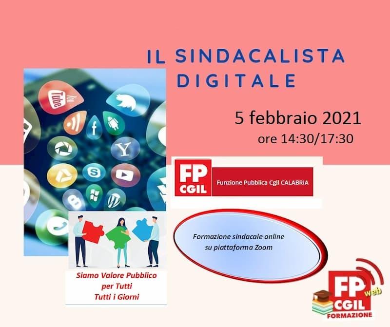 Il sindacalista digitale 5 febbraio 2021 locandina