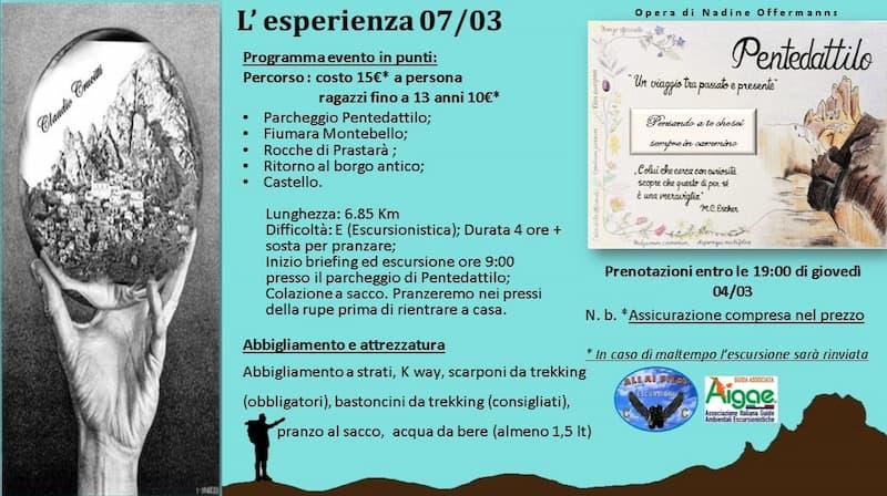 Escursione Pentedattilo - Prastarà 7 marzo 2021 locandina
