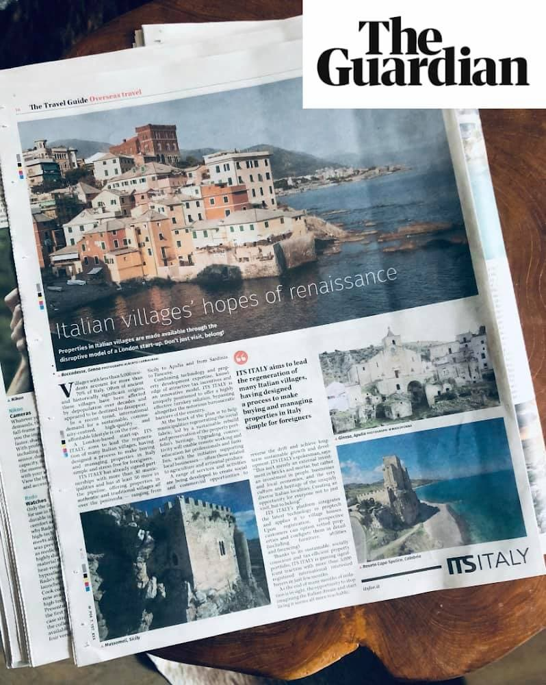 Roseto Capo Spulico sulle pagine del tabloid The Guardian