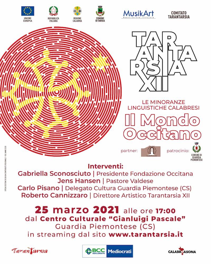 Le minoranze Occitane al centro del dibattito del Tarantarsia XII 25 marzo 2021 locandina
