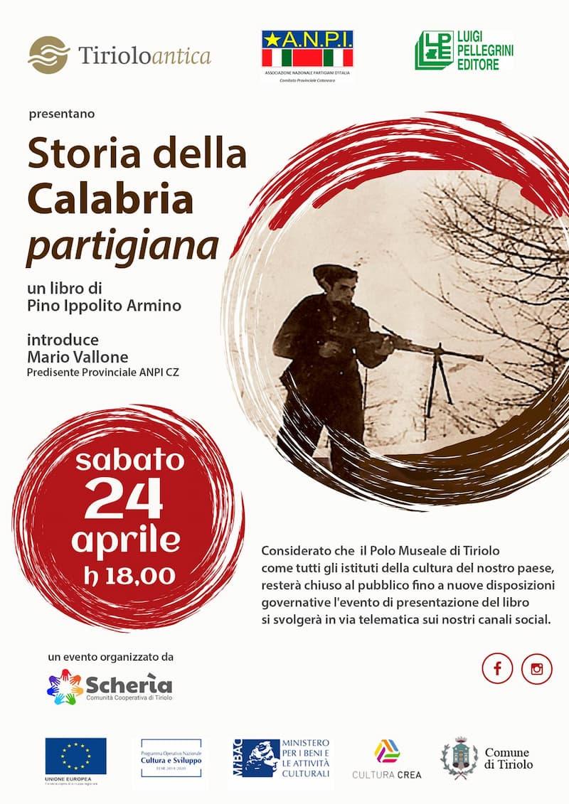 Conferenza di presentazione del libro Storia della Calabria Partigiana 24 aprile 2021
