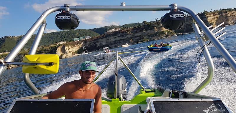 Davideo Beach Baia di Riaci noleggio nautico - tour - giochi d'acqua