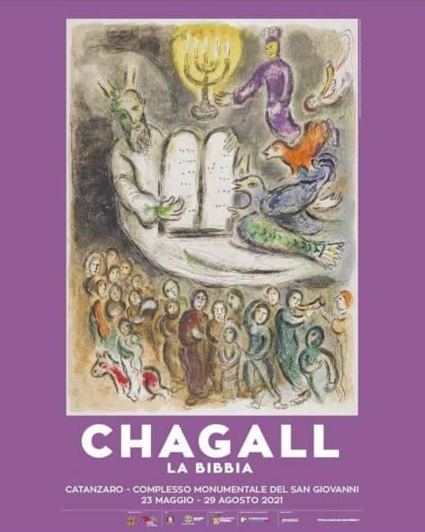 Mostra Chagall - La Bibbia locandina 23 maggio al 29 agosto 2021