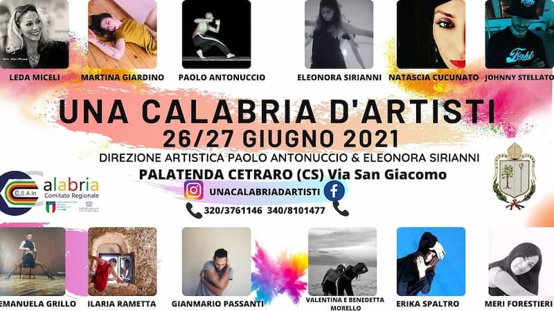 Una Calabria d'artisti 26 e 27 giugno 2021 a Cetraro locandina