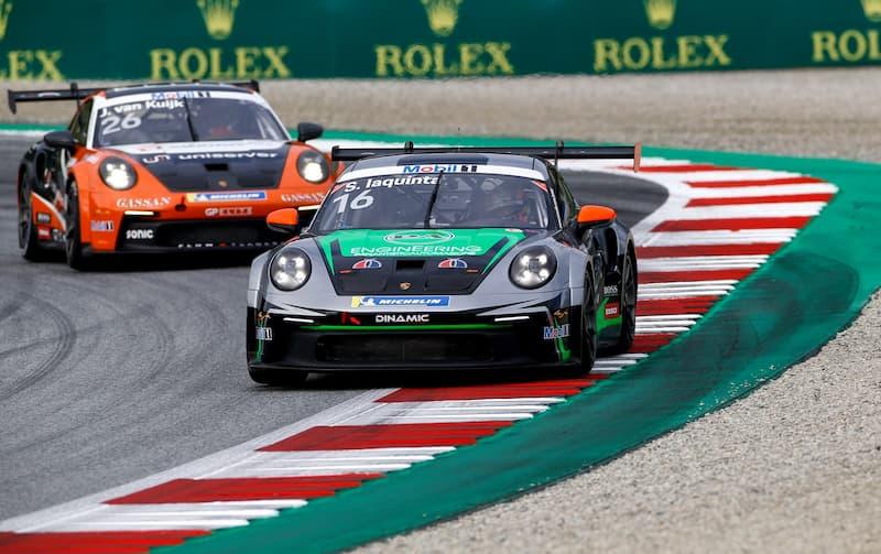 Calabrese Simone Iaquinta a Spa nel Mondiale Porsche