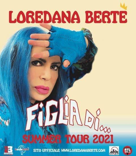 Loredana Bertè 30 luglio 2021 a Cosenza locandina