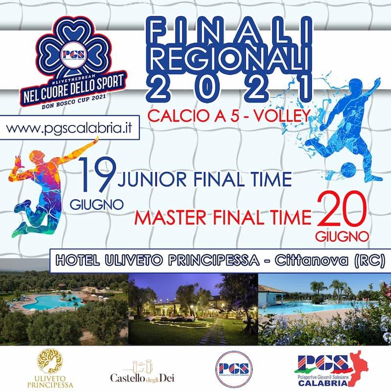 PGS Calabria, a Cittanova le finali regionali della Don Bosco Cup 19 - 20 giugno 2021 locandina