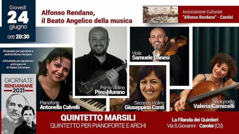 Quintetto Marsili 24 Giugno 2021 a Carolei
