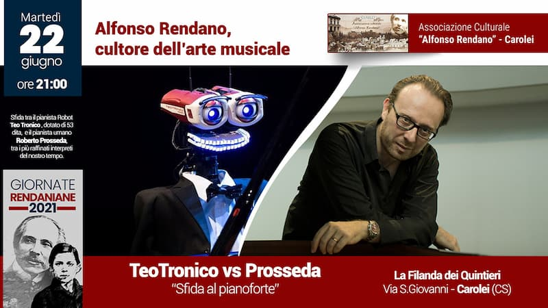 TeoTronico VS Prosseda Sfida al pianoforte 22 Giugno 2021 a Carolei