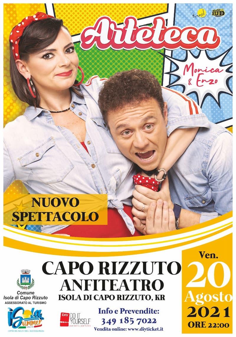Cabaret Arteteka Anfiteatro Capo Rizzuto 20 agosto 2021 locadina