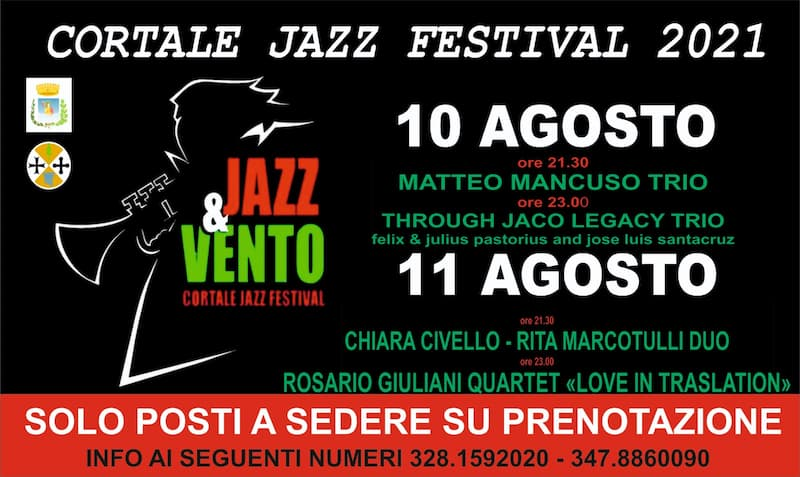 Festival Jazz&Vento XVIII edizione 2021