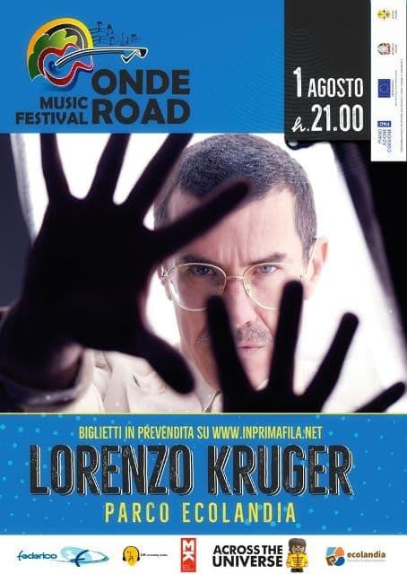Lorenzo Kruger a Reggio Calabria 1 agosto 2021 locandina