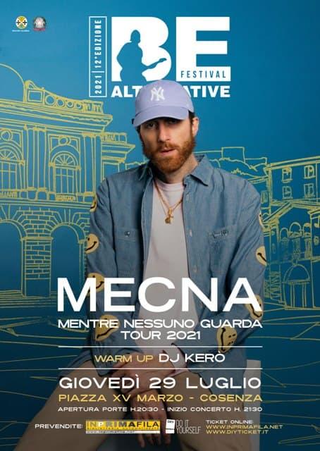Mecna in concerto a Cosenza 29 luglio 2021 locandina
