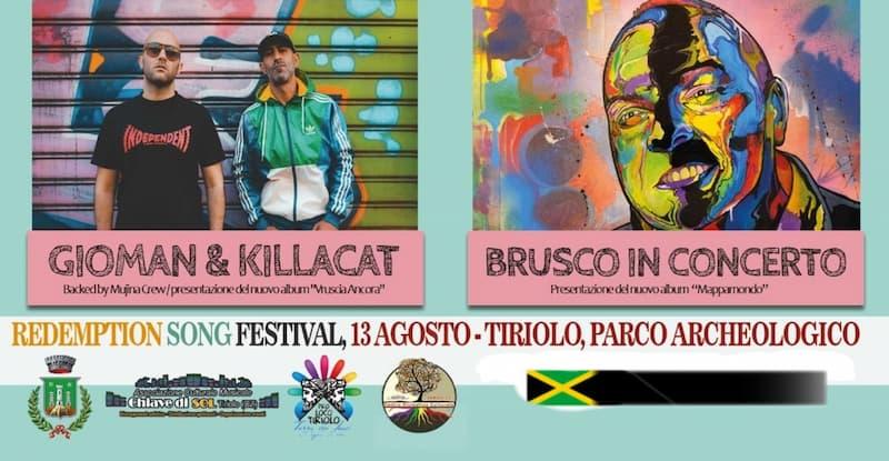 Redemption Song Festival 13 Agosto 2021 a Tiriolo