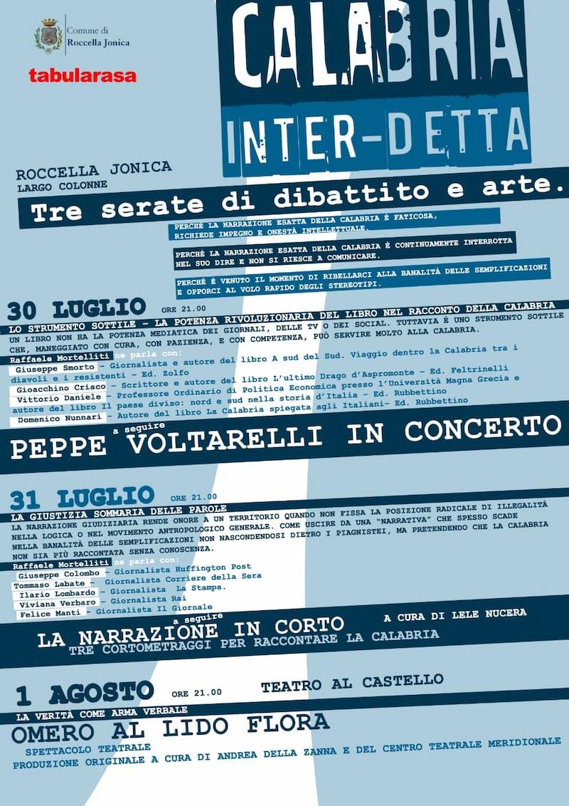 Roccella ospita l'evento Calabria inter-detta 2021 locandina