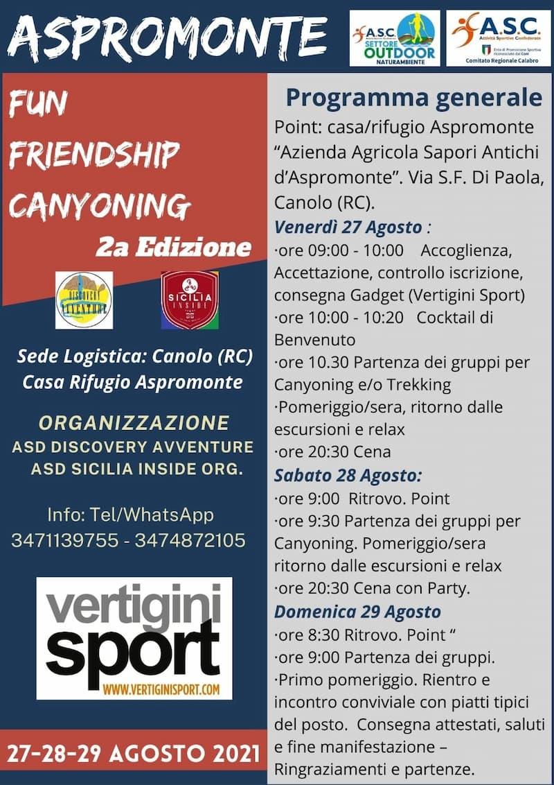 Torrentismo in Aspromonte 27 - 28 - 29 Agosto 2021