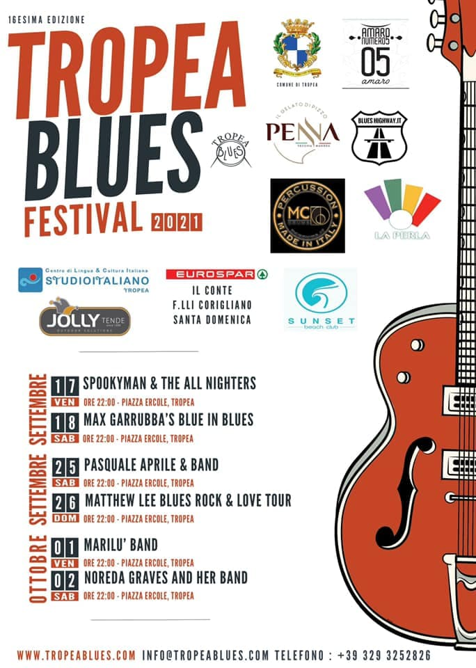 Tropea Blues Festival 2021 locandina