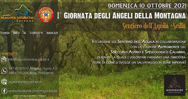 1^ Giornata degli Angeli della Montagna 10 ottobre 2021 Scilla locandina