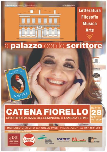 Catena Fiorello A Palazzo con lo Scrittore 28 settembre 2021 Lamezia Terme